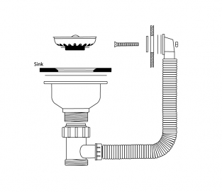 Waste & Overflow Kit, Suitable for Colorado 100 and Yorkshire sinks, Chrome