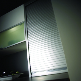 1450 x 500mm Comfort Stainless Steel Tambour Door