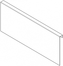 AMBIA-LINE Adapter Profile for 'C' Height wooden back LEGRABOX, 218mm wide, Orion Grey
