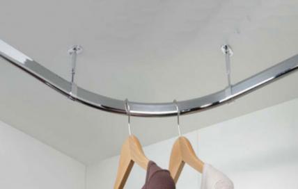 90° Corner oval hanging rail 30 x 15mm