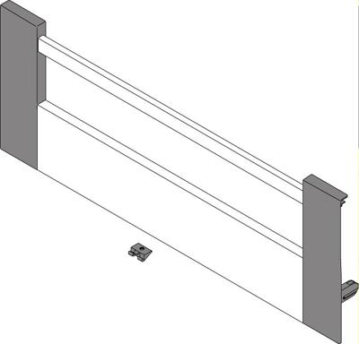 Internal drawer, pre-assembled front, 'D' height