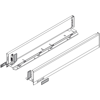 LEGRABOX, 90.5mm High Drawer Sides ('' Height), Deep (Pair), Orion Grey