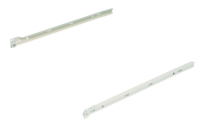 400mm single extension, 25Kg, cream RAL9001 (pair)
