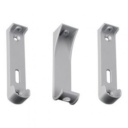 Additional Wardrobe Rail Mounting Brackets in Aluminum with Centre Support