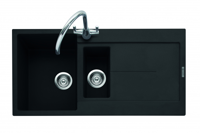 Canis 150, Geotech Granite Sink and Drainer, 1.5 Bowl, Universal, AN - Anthracite