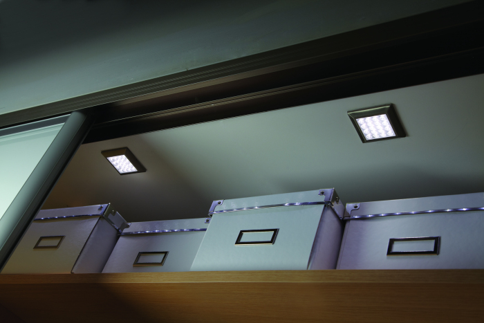 Ora - HD LED Under Cabinet Square Surface Mounted Light, 2 Light Kit, Warm White