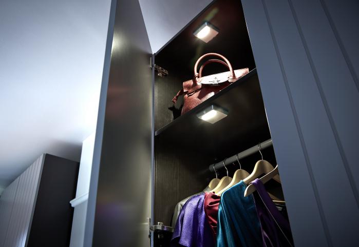 Prisma -Tiltable LED Rechargeable Wardrobe Light, Cool White