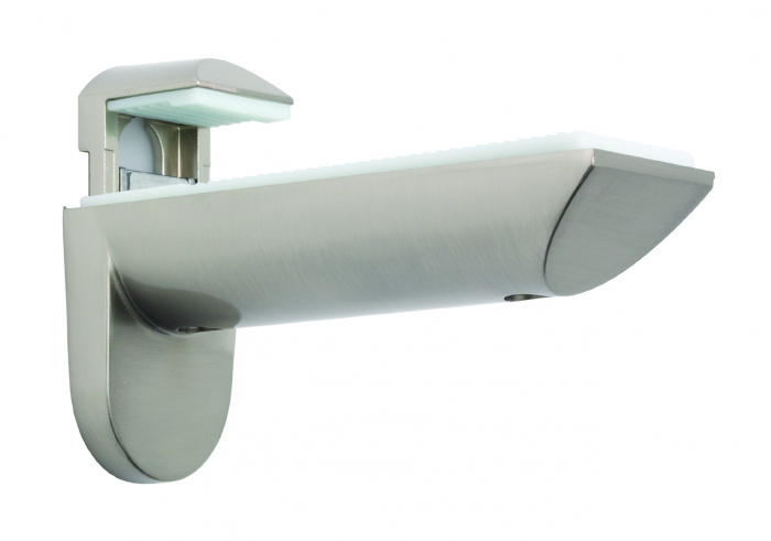 Shelf Bracket Brushed Nickel
