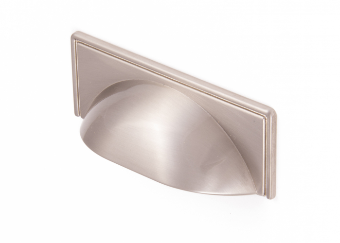 WINDSOR, Cup Handle, 64mm Centres, Brushed Nickel
