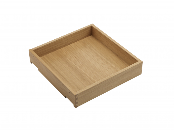 In-Frame Oak Drawer Box 90 x 268 x 440mm