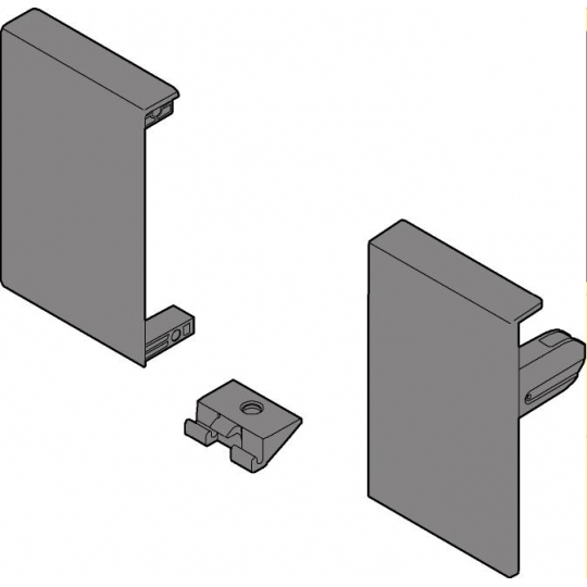 Internal Drawer front bracket, 'M' height