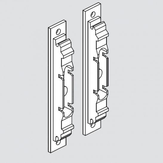 AVENTOS HK, Front Fixing Bracket Set, To Suit Solid Doors