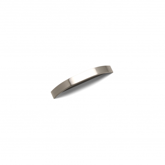 PICCADILLY, 'D' Handle, 96mm Centres, Brushed Nickel