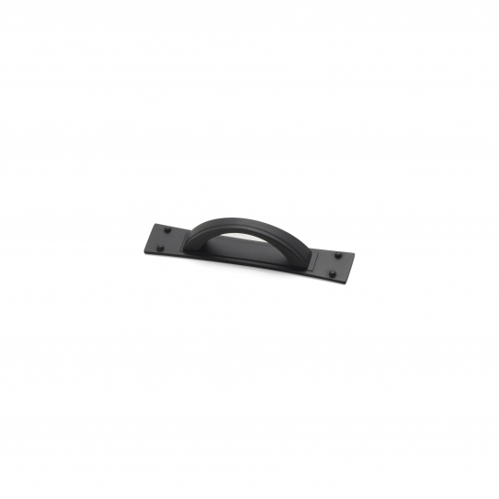 Titan, D handle & back plate Black, 64mm centres