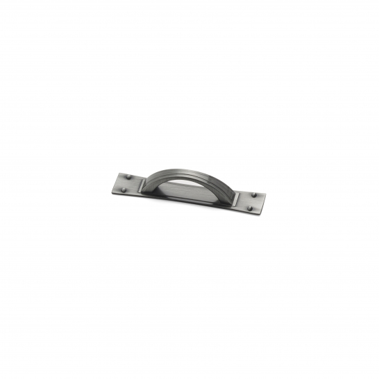 Titan, D handle & back plate Pewter, 64mm centres