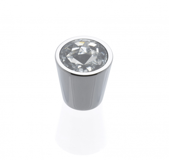 CLARITY Tapered Knob, Chrome / Crystal