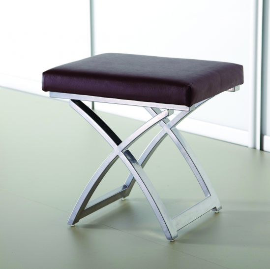 Chocolate Stool top faux leather