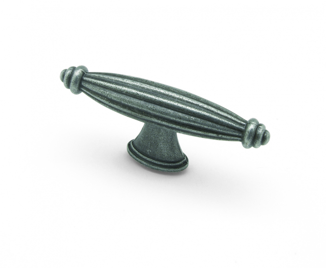 Reeded,T knob Pewter