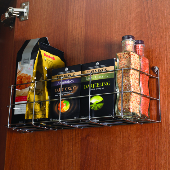 Single tier spice rack to suit 300mm wide door
