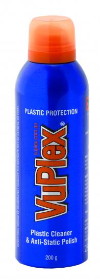 VuPlex Plastic cleaner and static polish
