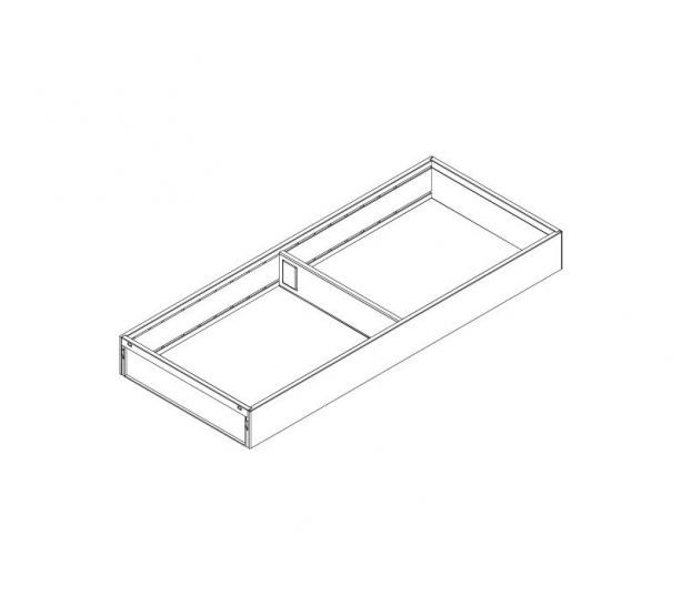 AMBIA-LINE 200mm wide drawer frame, to suit 450mm deep 'M' Height LEGRABOX, Orion Grey