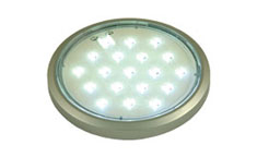 LED under cabinet round flat recessed/surface mounted light - warm white