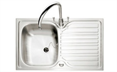 Crane 90 stainless steel 1 bowl inset sink - reversible