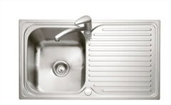 Dove 100 stainless steel 1 bowl inset sink - reversible