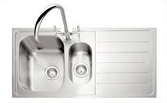 Lyon 150 stainless steel 15 bowl inset sink - handed-LSSBISLH