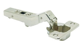 CLIP TOP / CLIP HINGE, OVERLAY, 95° Opening, +45° Angled Half Overlay, Screw-On
