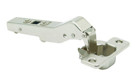 CLIP TOP / CLIP HINGE, OVERLAY, 110° Opening, +45° Angled Overlay, Screw-On