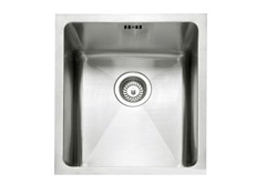 Mode 34 stainless steel 1 bowl inset or undermount sink