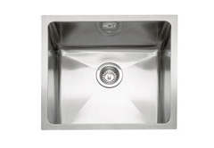 Mode 45 stainless steel 1 bowl inset or undermount sink