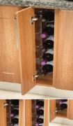 5 bottle capacity fixed wine rack
