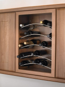 6 bottle capacity curved wine rack
