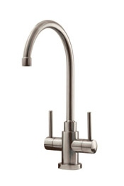 Lamar monobloc tap, brushed stainless steel