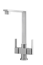 Robo monobloc tap, brushed stainless steel