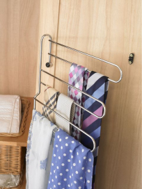 3-tier door mounted swing out tie and belt rack