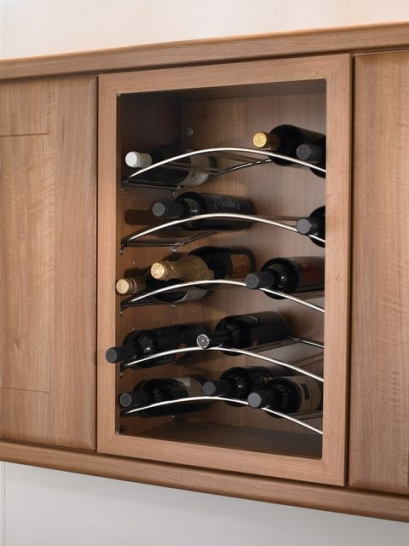 Curved wine rack