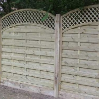 Trellis Topped Fencing
