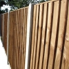 Closeboard panels on concrete posts and gravel boards