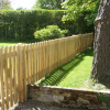 Oak picket fencing with matching gate