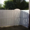 Palisade Screen fencing and matching gate.