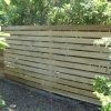 Horizontal Oak Fencing