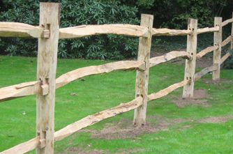Cleft Chestnut Post & Rail Fencing