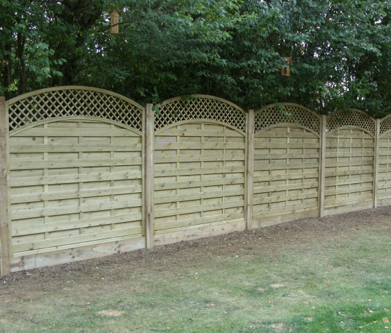 Dastra Panel Fencing with Trellis Tops