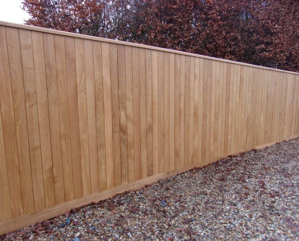 Oak Tongued & Grooved Board Fencing