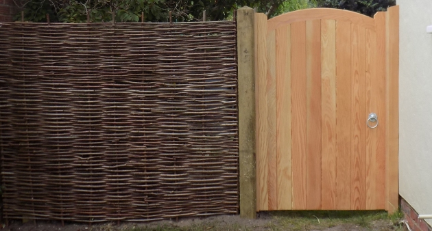 Hazel panel with Deben gate in douglas fir