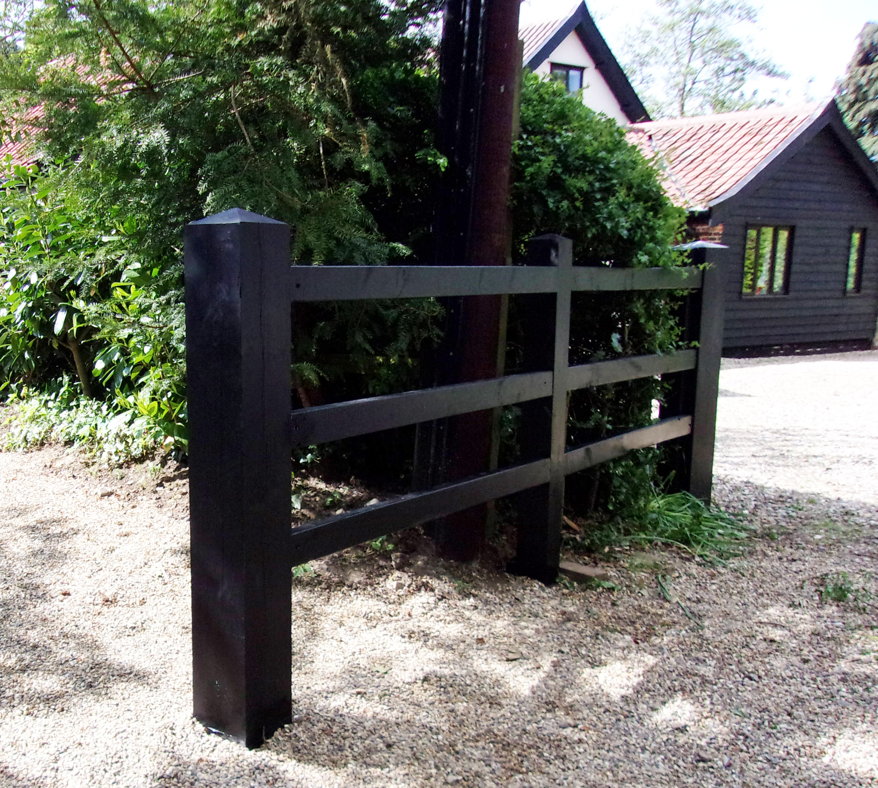 Picture of: Post Rail Fencing