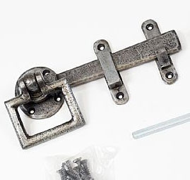 Durlston Ring Latch in pewter
